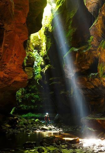 slot canyon, blue mountain, sydney, australia
