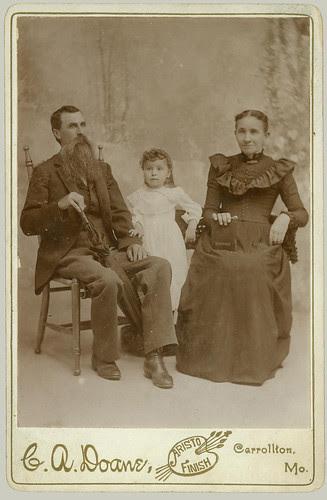 cabinet card Family in studio