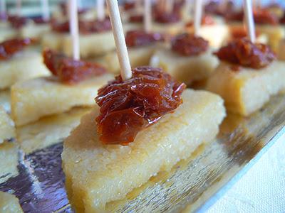 canapés polenta