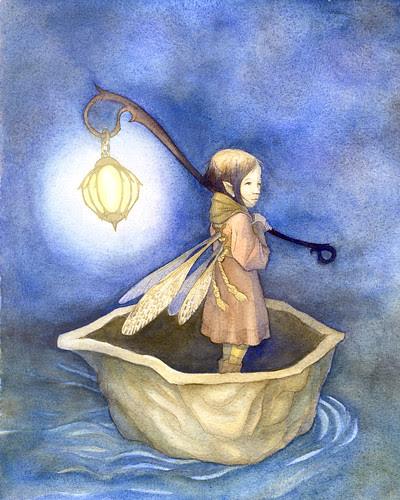 Fairy Watercolor - Drifting