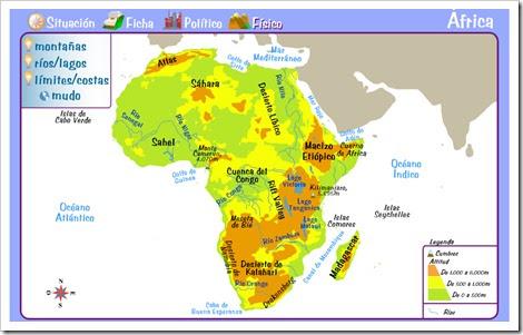 África físico y político