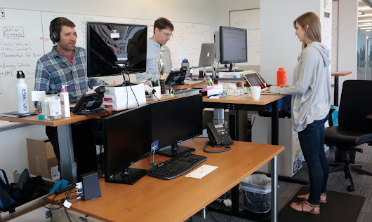 Standing desks sit well with more employees