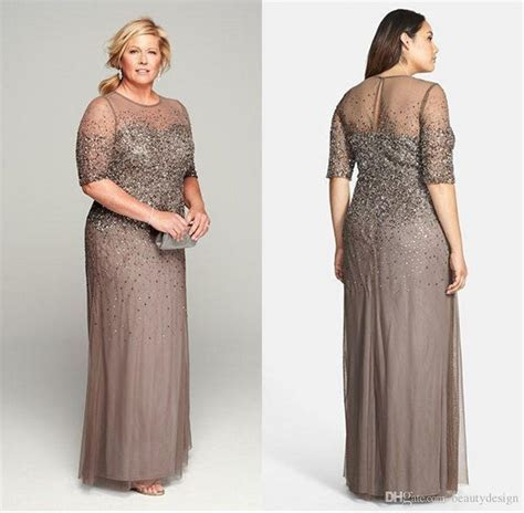 Sheer Mother of the Bride Groom Dresses with Short Sleeves