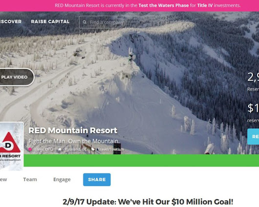 So This Just Happened... RED Mountain Hits Their $10 Million Goal...