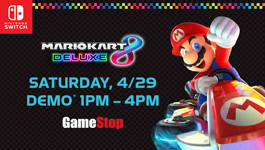 Mario Kart 8 Deluxe Demo Coming To Select GameStop Stores April 29th