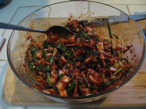 daikon & pak choy kimchi