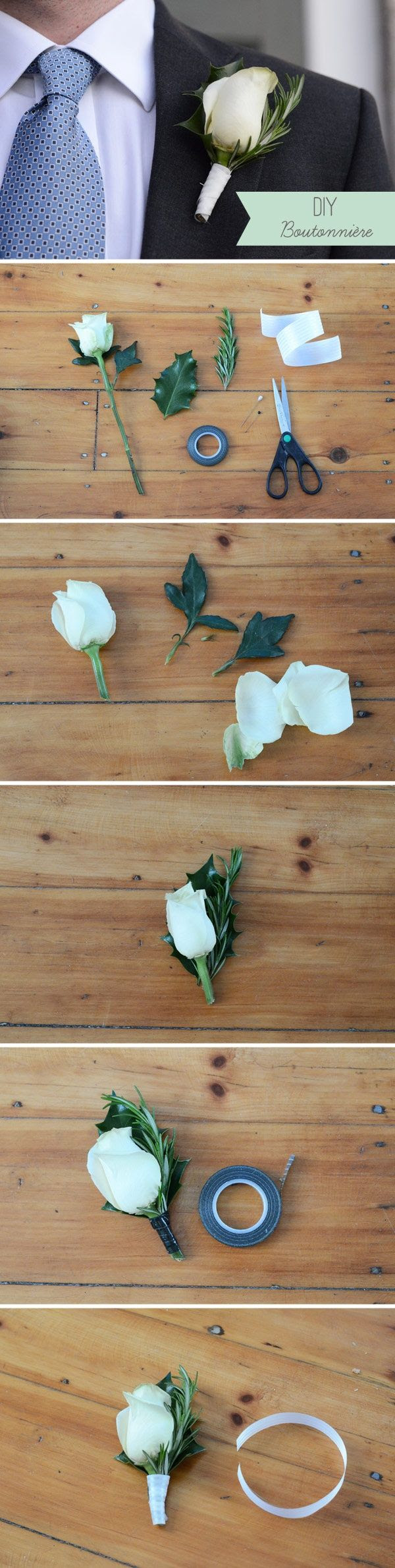 How to make a DIY Boutonniere for your wedding