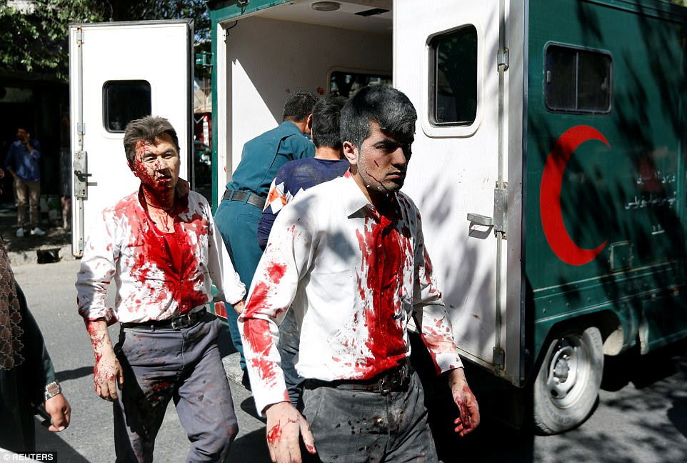 At least 80 are feared dead and hundreds more have been injured in a massive explosion near the British embassy in Kabul