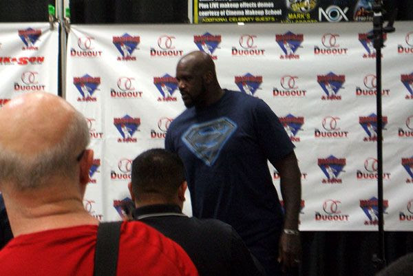 Shaquille O'Neal does an autograph signing at the Frank & Son Collectible Show in City of Industry, California...on August 10, 2013.