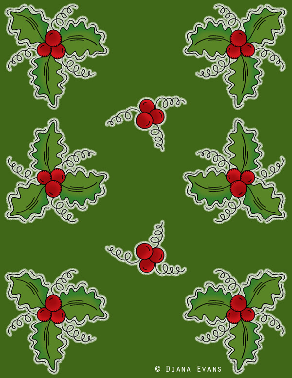 holly berry green wrap