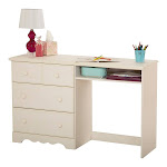 South Shore Summer Breeze Desk Color White, Finish White Wash, Material Laminated particleboard, Design / Pattern Coastal - South Shore - 3210070