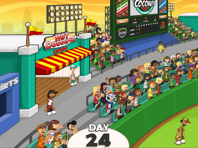 Who's up for some franks during Baseball Season! #PapaLouie has just open up Hot Doggeria within the city's ballpark! #TimeManagementGames #FlashGames