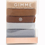 Gimme Clips Thick Hair Bands Neutral - 5ct