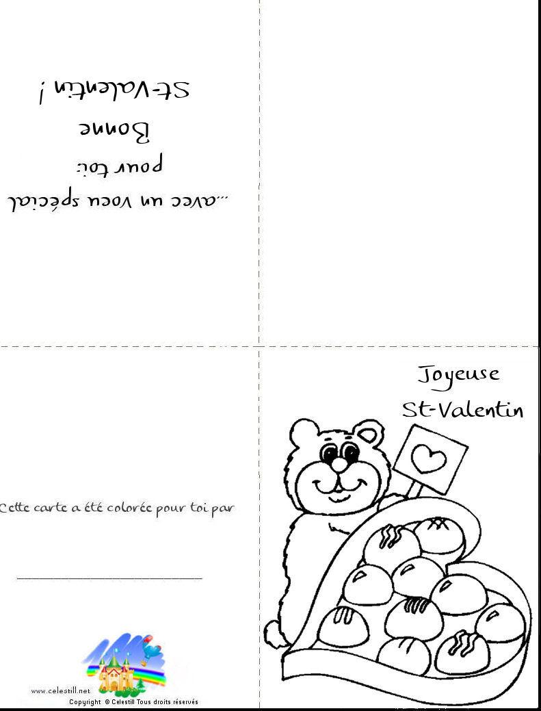 Frais coloriage coeur saint valentin a imprimer haut coloriage hd images et imprimable gratuit - Carte st valentin gratuite a imprimer ...