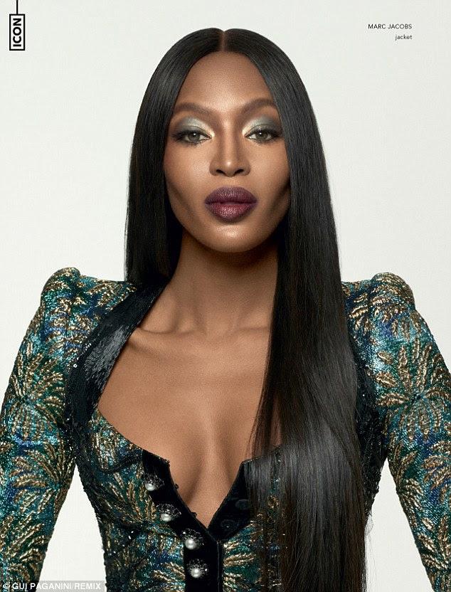 """Original: Naomi Campbell deu sua bênção para a raça geração de mídia social de modelos em um tiro impressionante para a revista Remix novo """"Ícone Edition '"""