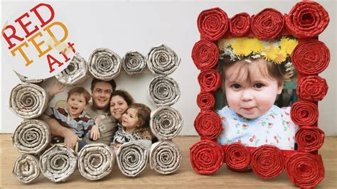 DIY Newspaper Roll Frames Gift for Father's Day or Mother