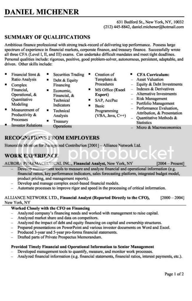 financial analyst resume offres d 39 emploi recrutement au maroc