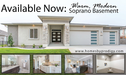 Available Now: Warm, Modern Soprano Basement! - Prodigy Homes Inc.