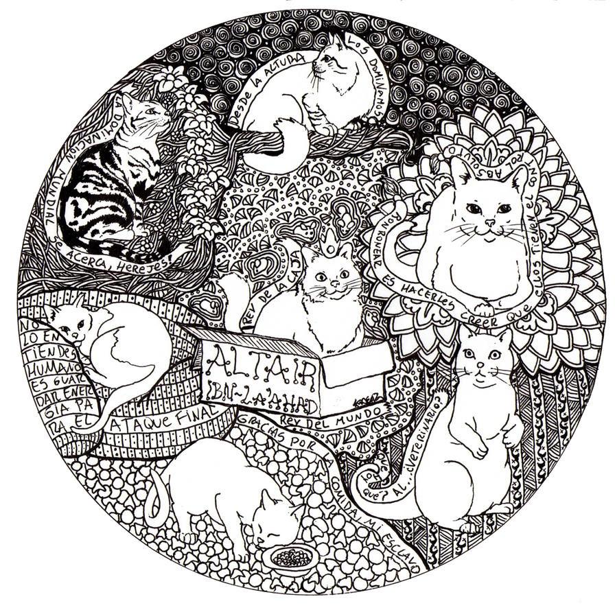 Cat Mandala by Radven on DeviantArt