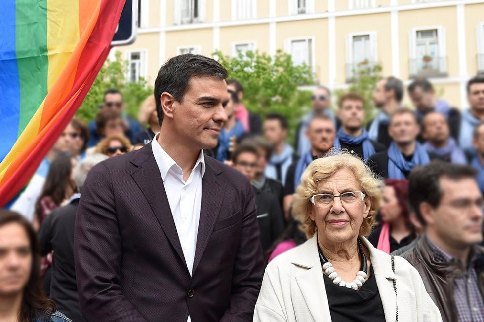 Resultado de imagen de Pedro Sánchez y Manuela Carmena