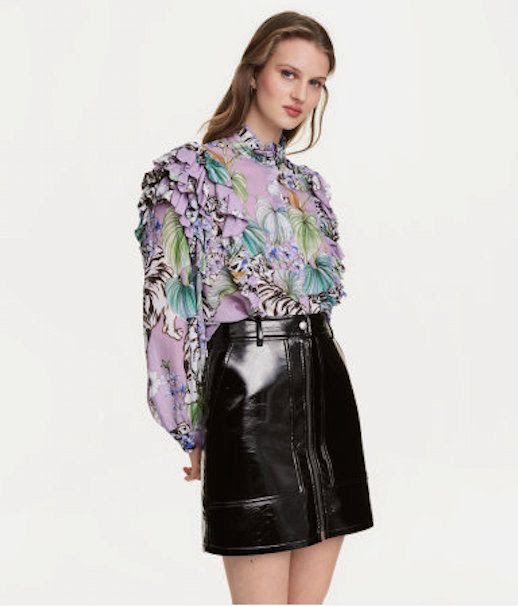 Le Fashion Blog 7 H&M Pieces To Buy Now Floral Animal Print Blouse Via Hm