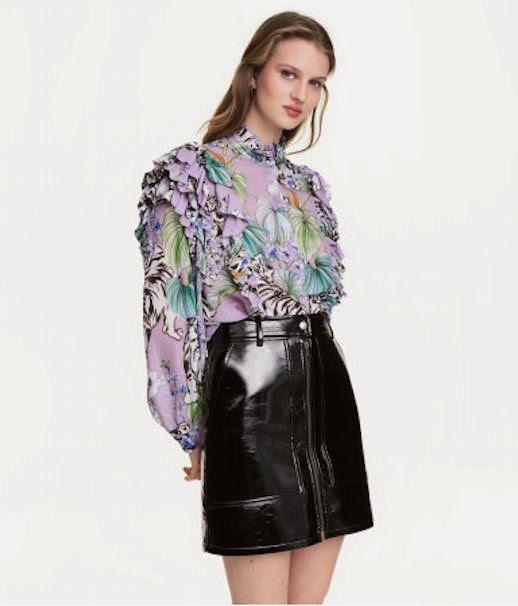 Le Fashion Blog 7 H&M Pieces To Buy Now Floral Animal Print Blouse Via Hm