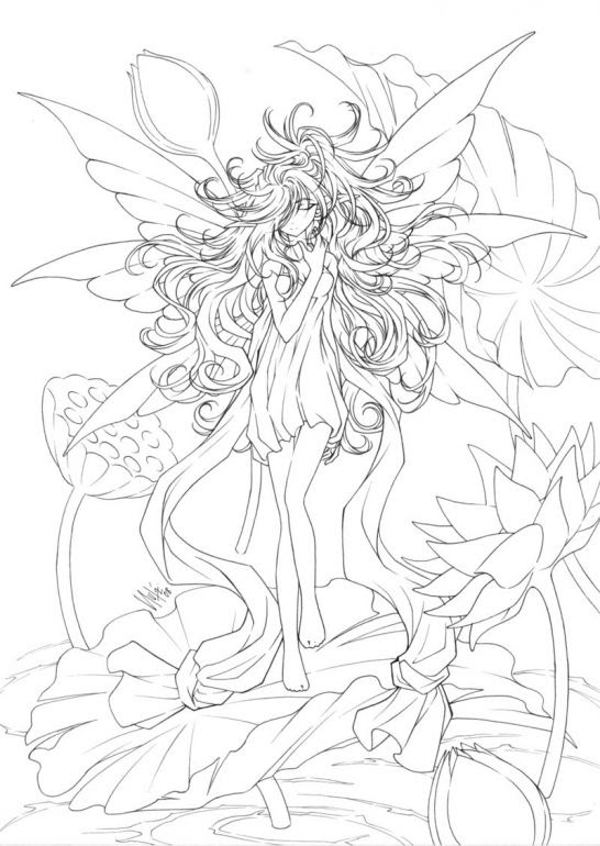 Water Fairies Coloring Pages | Coloring pages | Pinterest