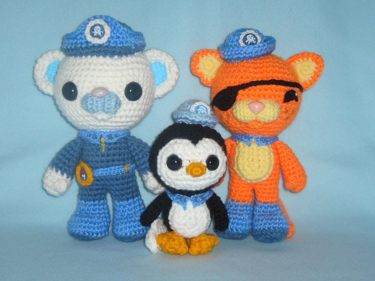 Octonauts team toys crochet PATTERNS PDF