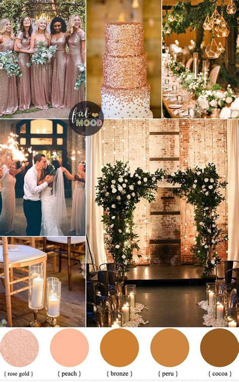 Rose gold wedding colour for industrial wedding   Wedding