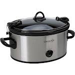 Crock-Pot 6 Qt. Cook & Carry Slow Cooker - Silver SCCPVL600-S