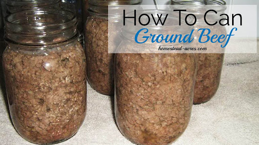 How To Can Ground Beef The Easy Way