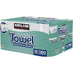 Kirkland Signature Create-A-Size Paper Towel, 2-Ply, 160 Sheets, 12 Rolls