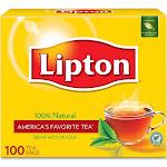 Lipton Tea Bags, 100% Natural - 100 bags, 8.0 oz