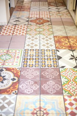 tiled floor!
