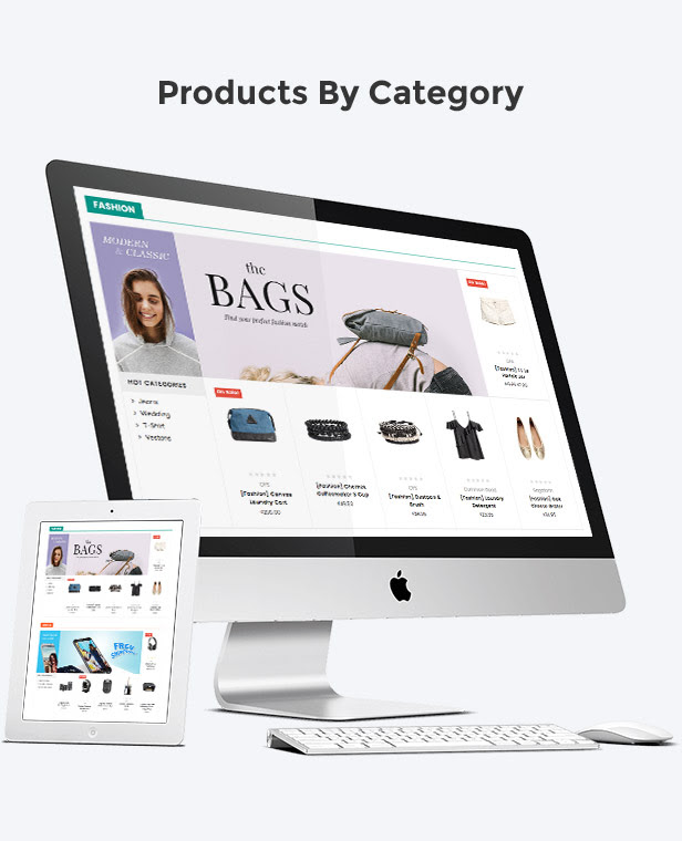 Display products by category