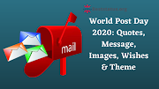 World Post Day : best Quotes, status,Message, Images, Wishes & Theme