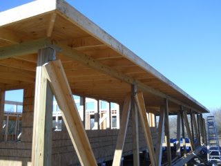 Porch Rafters Plywood Complete Bottom Side View