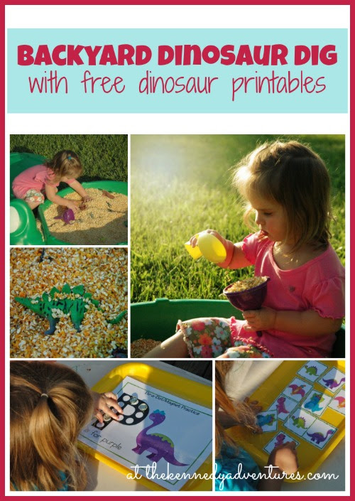 Backyard Dinosaur Dig with Free Printables - The Kennedy Adventures!