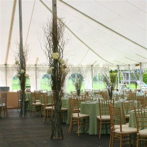 Wedding Tent Pole Decorations   Wedding tent decoration at