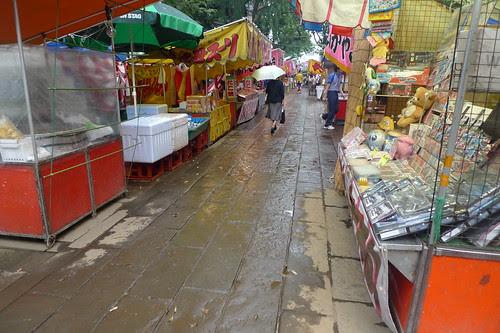 Stalls at Zoshigaya Kishibojin Temple Summer Fair
