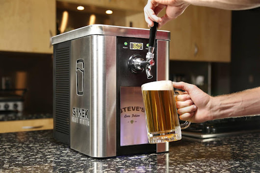 Synek is like a countertop kegerator you can fill at practically any tap