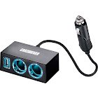 Car and Driver USB + Dual Socket Car Charger Power adapter