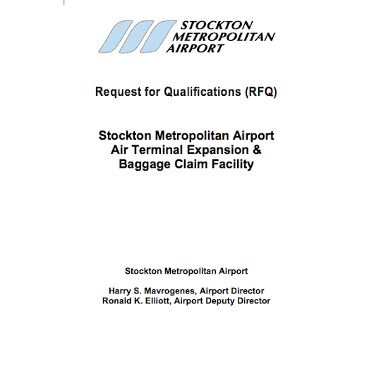 Update: New Addendum Added to Request for Qualifications (RFQ) for Stockton Metropolitan Airport Air Terminal Expansion & Baggage Claim Facility | Cheap Flights | United States | Stockton Metropolitan Airport