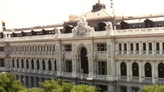 Façana de la seu del Banc d'Espanya a Madrid