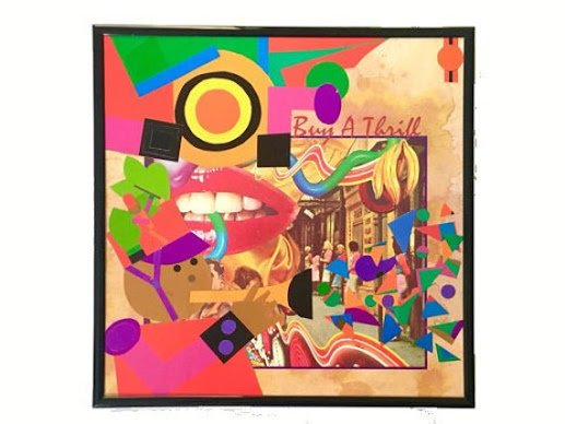 Vinyl Record Cover Collage Art Mixed Media Home by 4StoriesUp