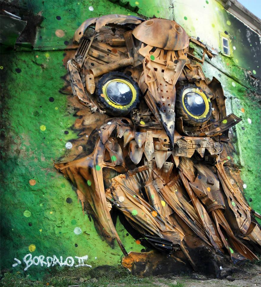 recycled-owl-sculpture-street-art-owl-eyes-artur-bordalo-2