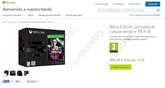 Xbox One Day One Edition with Free FIFA Still Available at Microsoft's Own Store in Italy and Spain