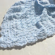 Baby Blue Crochet Blanket baby boy newborn shower gift afghan on Handmade Artists' Shop