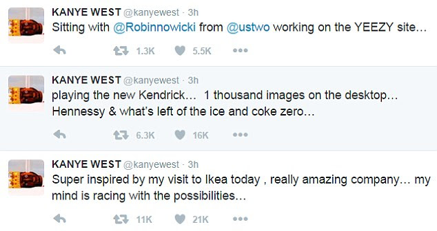 King: The Famous rapper also said listening to Kendrick Lamar's surprise album Untitled Unmastered which was released last week