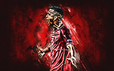 Download wallpapers Luis Nani, red stone, Portugal National Team, fan art, soccer, footballers, Luis Carlos Almeida da Cunha, Nani, grunge, Portuguese football team besthqwallpapers.com